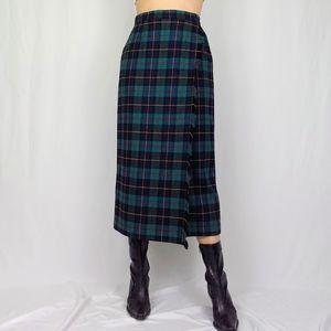 Vintage fringed blanket skirt